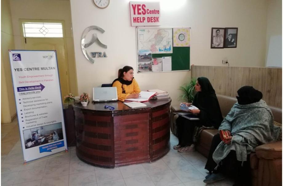 Help Desk is providing technical assistance to women entrepreneurs.