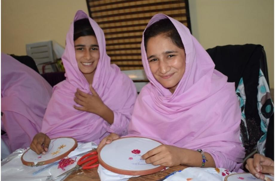 Hadia Zahra and Ansha Zahra are happy because they are part of vocational training